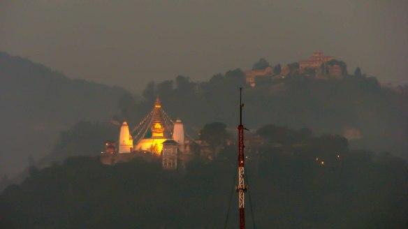 Pashupatinath - nightime view from Kathmandu