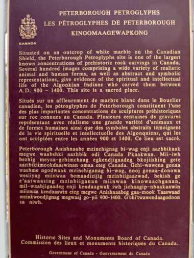 Peterborough Petroglyphs plaque