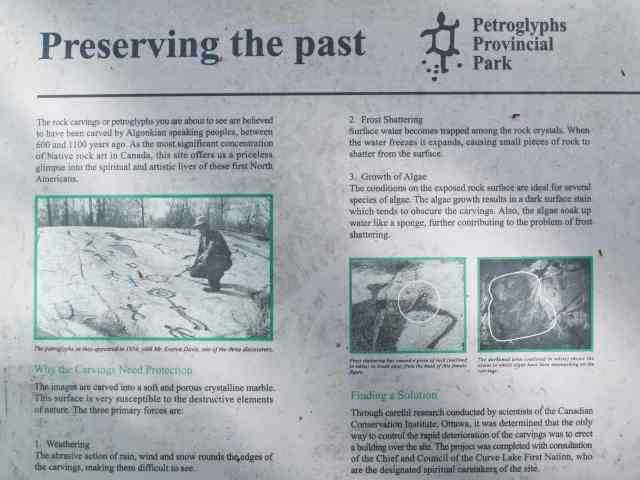 Peterborough Petroglyphs Site Info Panel- Part 1