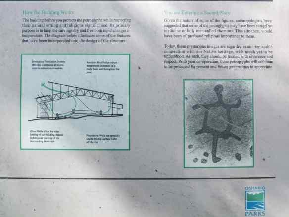 Peterborough Petroglyphs Site Info Panel- Part 2