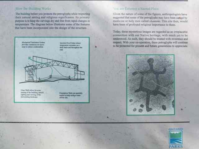 Peterborough Petroglyphs Site Info Panel- Part 2