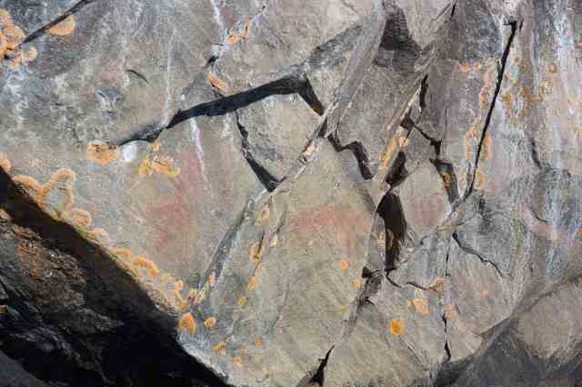 pictographs just south of Dewdney's Face II
