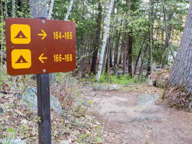 sign to our campsite on Mazinaw's west shore
