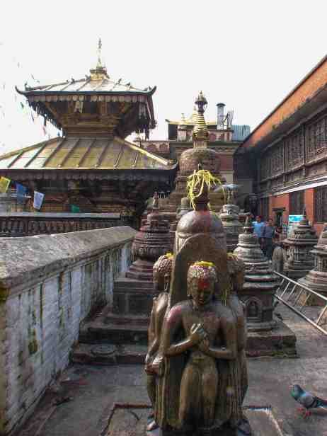 Swayambhu- around the top platform