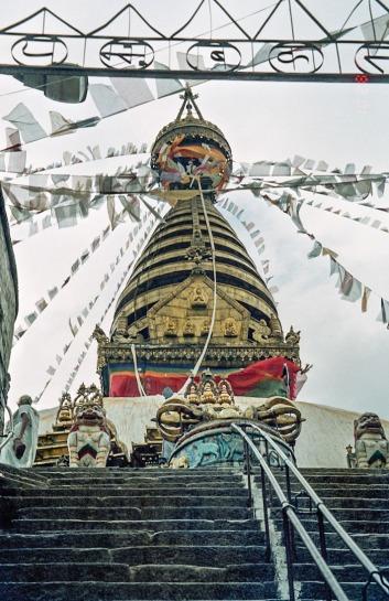 swayambhu at the top