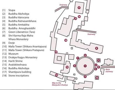 See here for source of map - Karmapa's Swayambhu monastery renovation project