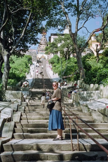 swayambhu steps up to the top