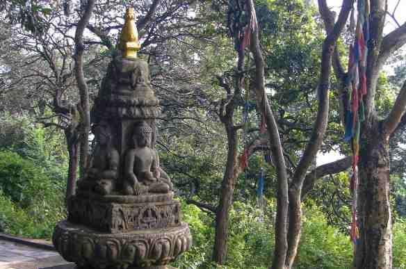Swayambhu - two buddha seated figures
