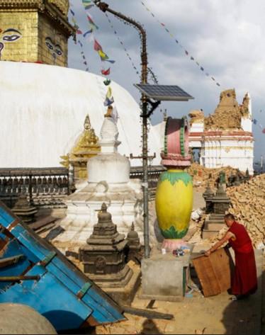Swayambhunath after the quake