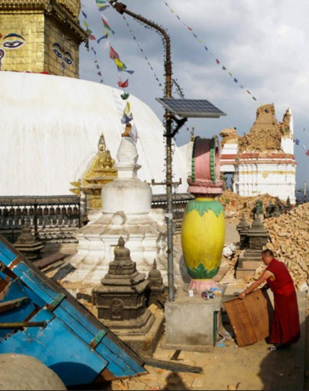 Swayambhunath after the quake