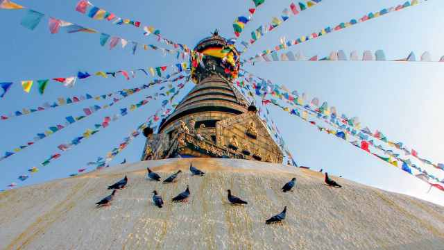 Swayambhunath - birds of stupa