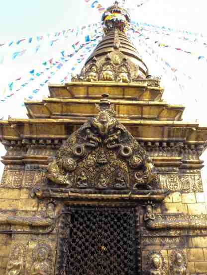 Swayambhunath -detail of stupa temple door