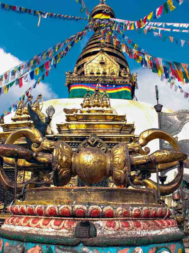 Swayambhunath - Dorje with Stupa in background