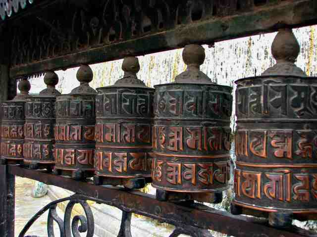 Swayambhunath - prayer wheels