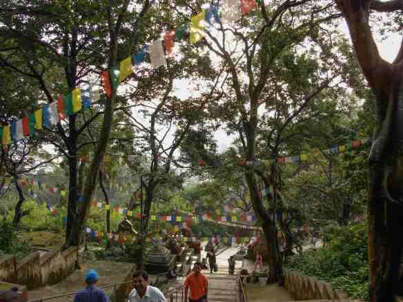 Swayambhunath - the steps up to the top platform
