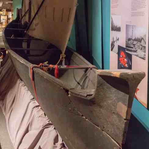 west coast dug out canoe with sail