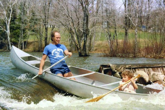 Toronto Star photo - Pierre Trudeau and his son Justin running the rapids