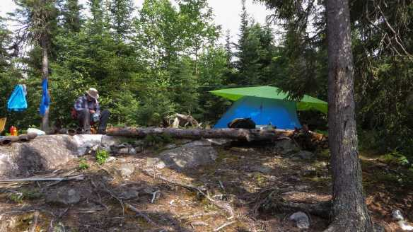 campsite at the north end of Steel Lake