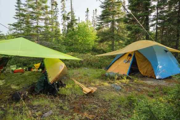 campsite on Diablo Lake island