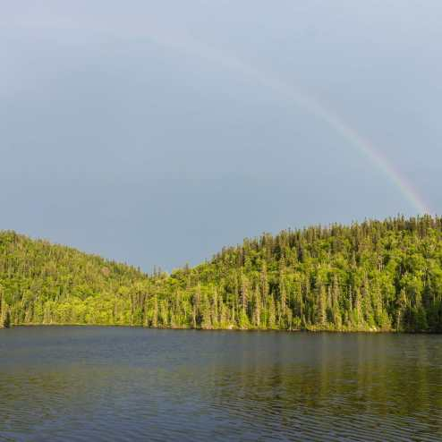 Rainbow over the Diablo Portage