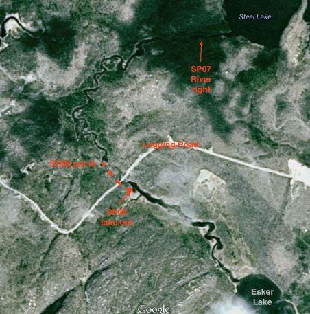 Steel River portages between Esker Lake and Steel Lake