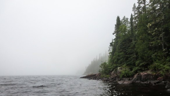 approaching the south end of Santoy Lake
