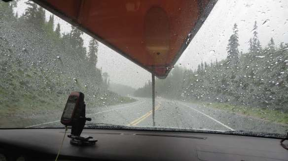 heading back east on a rainy day