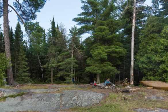Hobarth Lake campsite overview