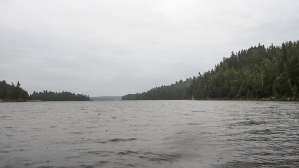 looking down the north arm of Diamond Lake