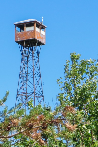 Maple Mountain fire tower - the cupola