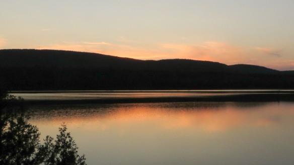 Maple Mtn Ridge at sunset