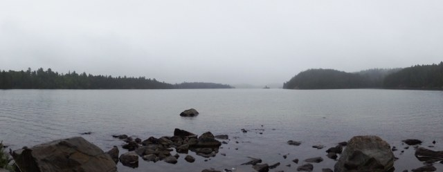 panorama of Sharp Rock Inlet area