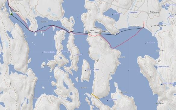 Portage Choices To Get To Ferguson Bay