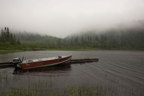 Santoy Lake boat at the dock