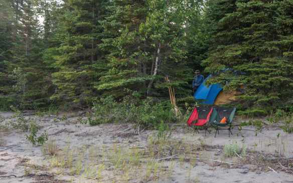Santoy Lake north shore beach and camping area
