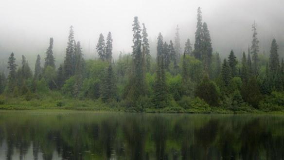 Santoy shoreline in the mist