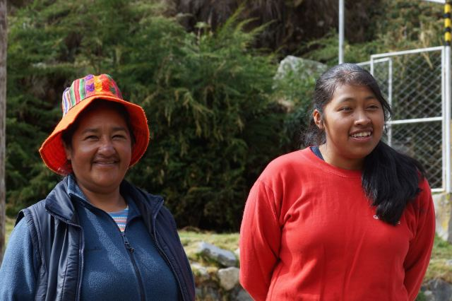a farewell to our cook team - Lucretia and her daughter Pati
