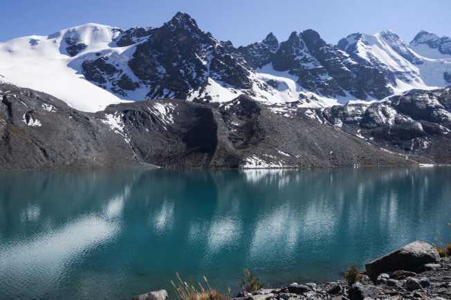 a glacial lake above Juri Khota