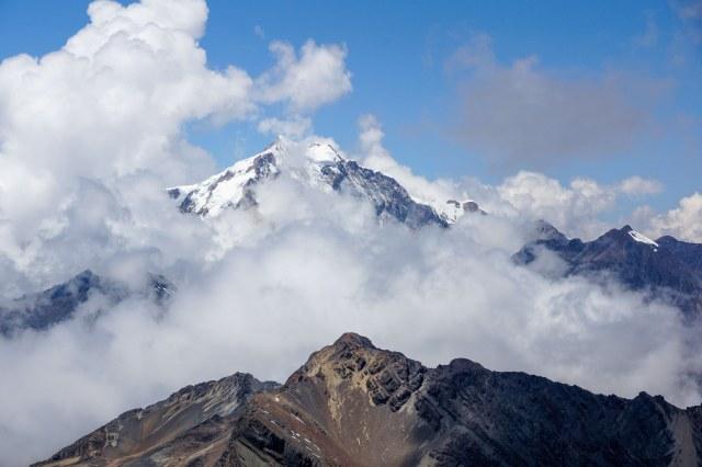 a view of Cerro Jawaka behind (east of) Chiar Khota