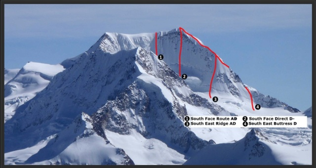 Chachakumani routes to the summit