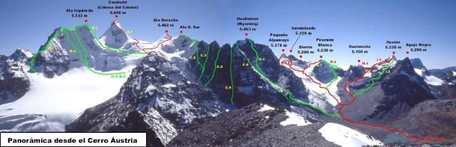 Condoriri peaks from Pico Austria
