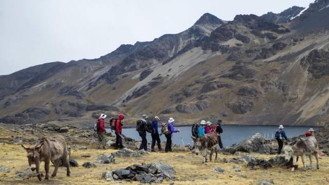 entering Ch'iara Khota camp from Pico Austria