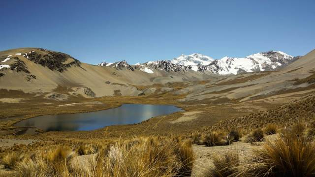 glacial lake on south side of Cerro Kasiri