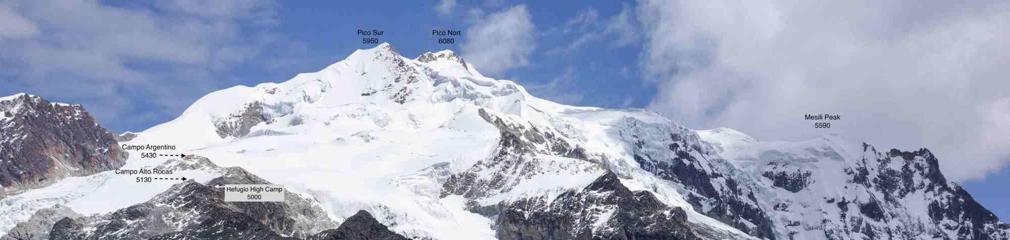 Huayna Potosi Peaks and High Camps