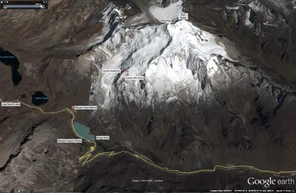 Huayna Potosi Satellite shot May 2014