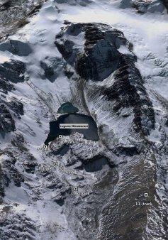 Laguna Warawarani - Google Earth view