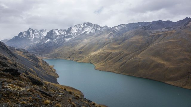 looking down on the top end of Laguna Khotia