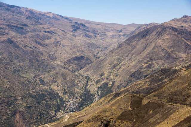Looking down on Millipaya, Llojena, and Alto Llojena