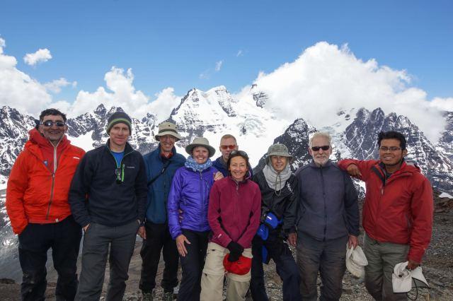 our trekking team atop Pico Austria