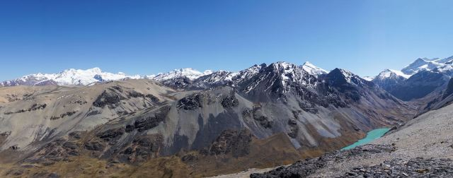 panorama of the Cordillera Real above Jistaña Khota